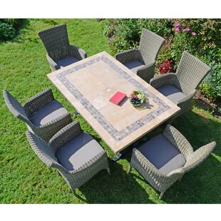 Shayna 6 Seater Dining Set With Cushions By Sol 72 Outdoor
