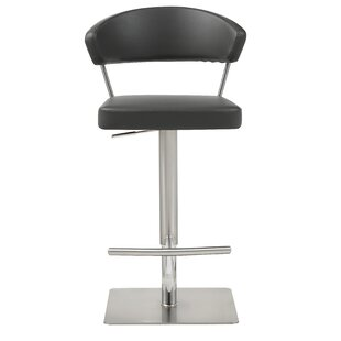Harworth Adjustable Height Swivel Bar Stool Orren Ellis