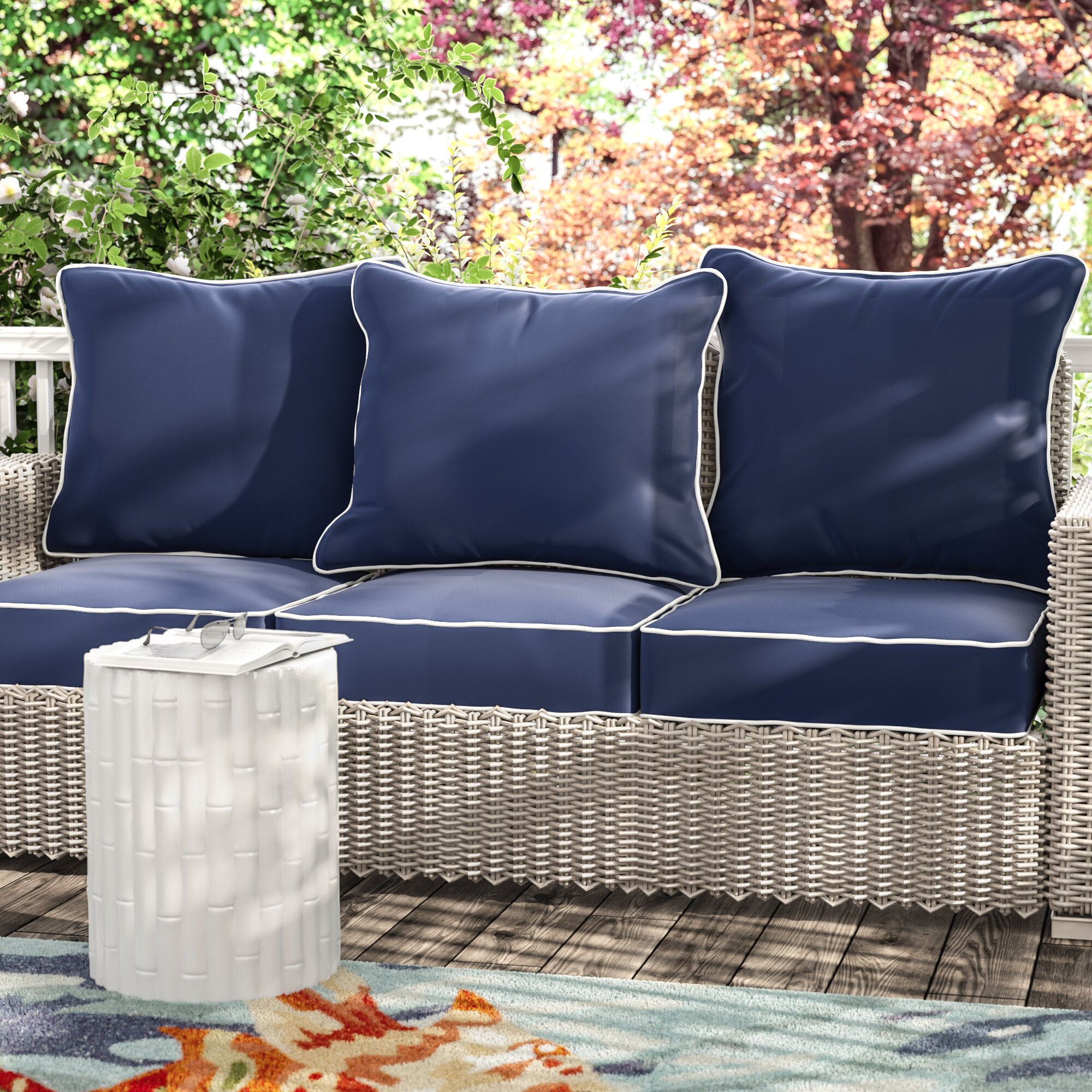 loveseat outdoor harbor palm wicker walmart patio crosley ip com cushions