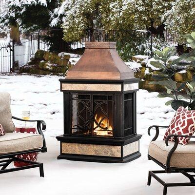 Fleur De Lis Living Sofie Steel Wood Burning Outdoor Fireplace  Finish: Black