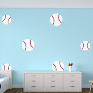 Baseball wall decals wayfair baseballs wall decal gumiabroncs Image collections