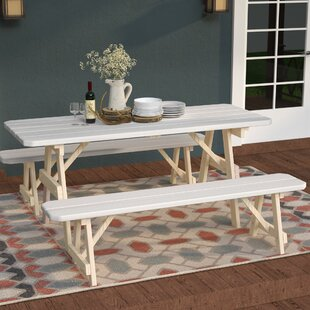 Summerhill Solid Wood Picnic Table by Loon Peak