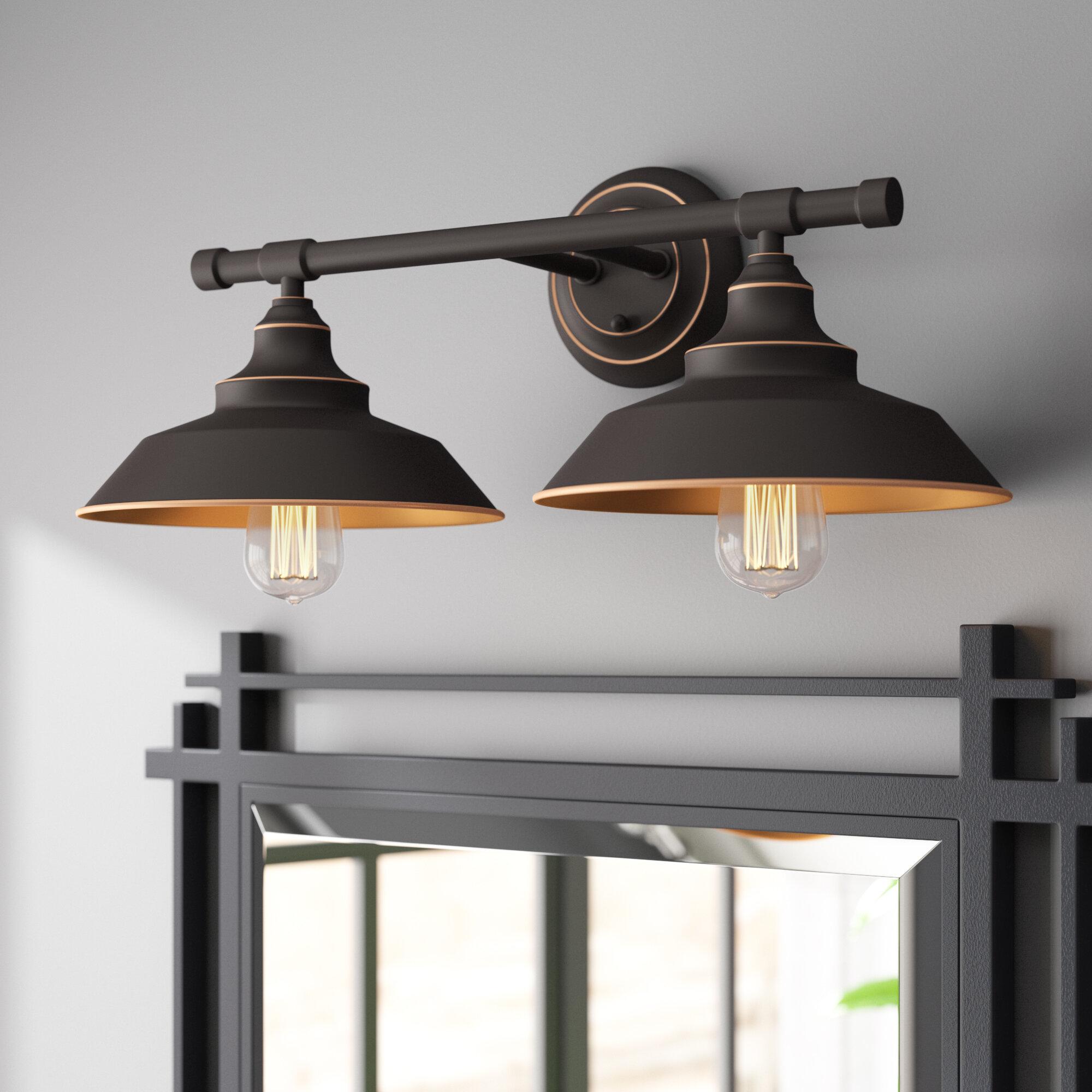 Williston Forge Myndi 2 Light Dimmable Oil Rubbed Bronze Vanity Light Reviews Wayfair