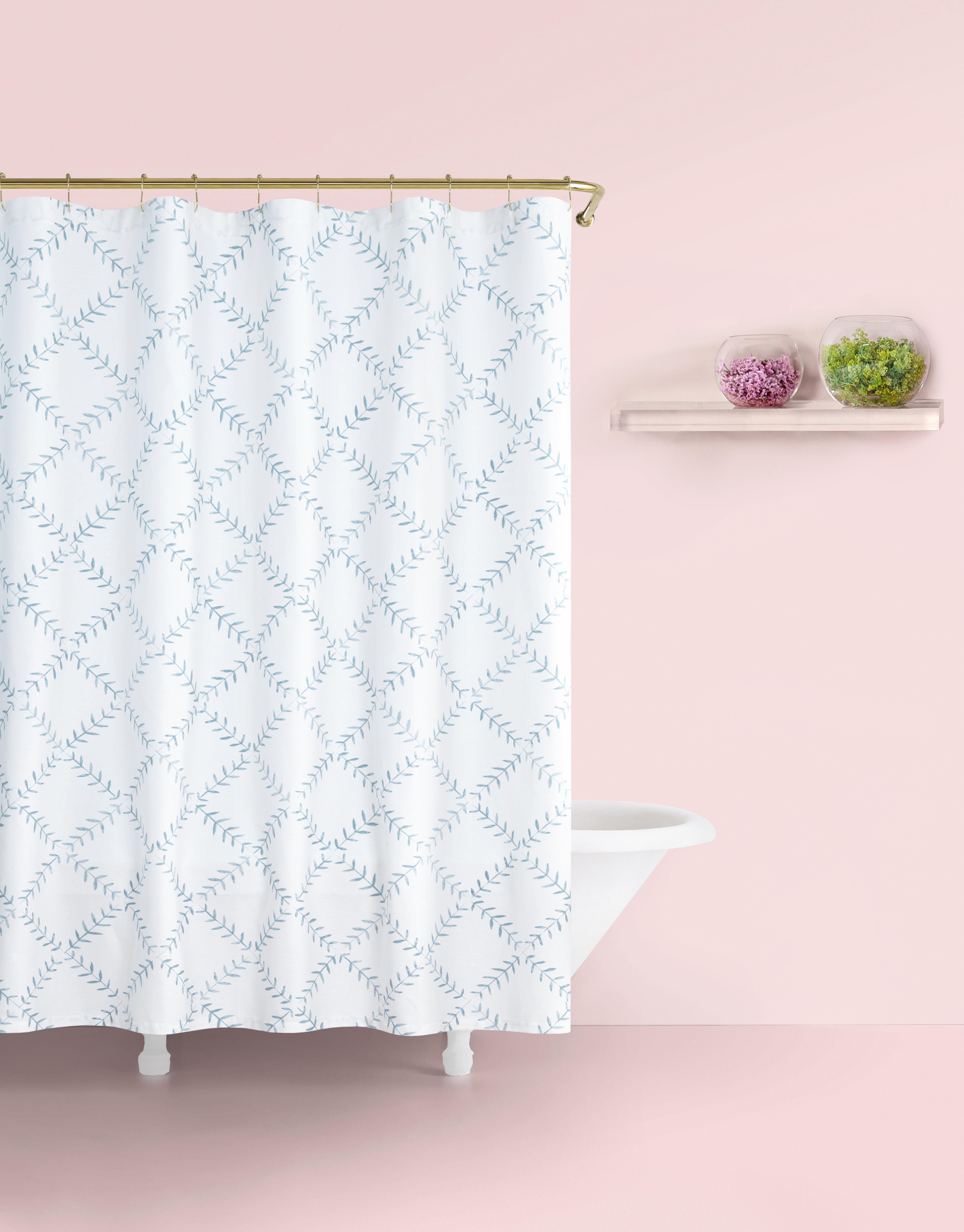 Kate Spade New York Fern 100 Cotton Geometric Single Shower Curtain Perigold