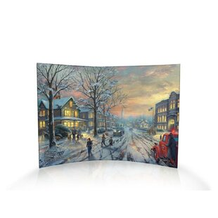 Thomas Kinkade A Christmas Story Curved Graphic Art Print