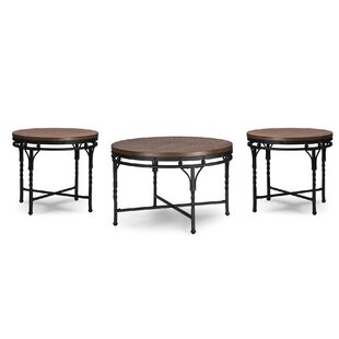 Latitude Run Foti 3 Piece Coffee Table Set