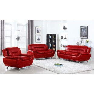 Sather 3 Piece Living Room Set