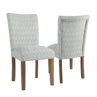 Adrien Haverstraw Textured Parsons Upholstered Dining Chair (Set of 2) Mistana