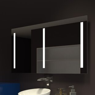 Best Reviews Lency Illuminated Bathroom/Vanity Mirror By Orren Ellis