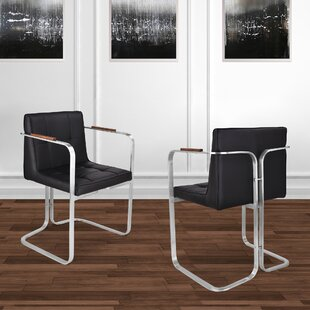 Vanwinkle Upholstered Dining Chair (Set of 2) Orren Ellis