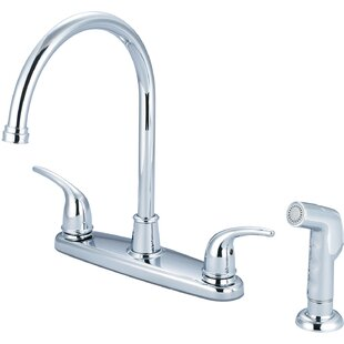 Olympia Faucets Double Handle Kitchen Faucet with Side Spray