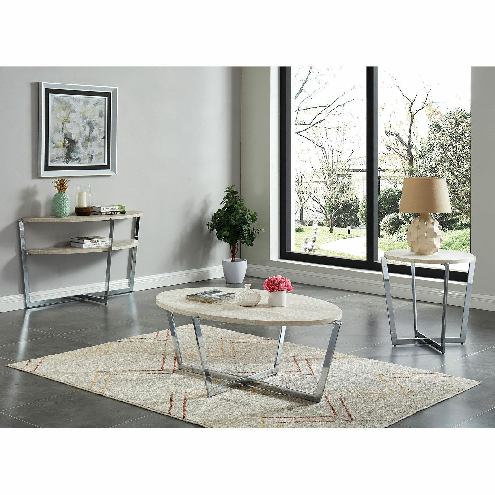 Orren Ellis Reach 3 Piece Coffee Table Set Wayfair