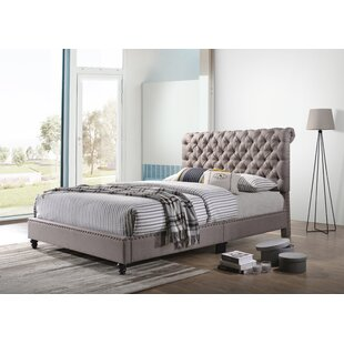 Kizzie Upholstered Sleigh Bed by Three Posts Today Only Sale