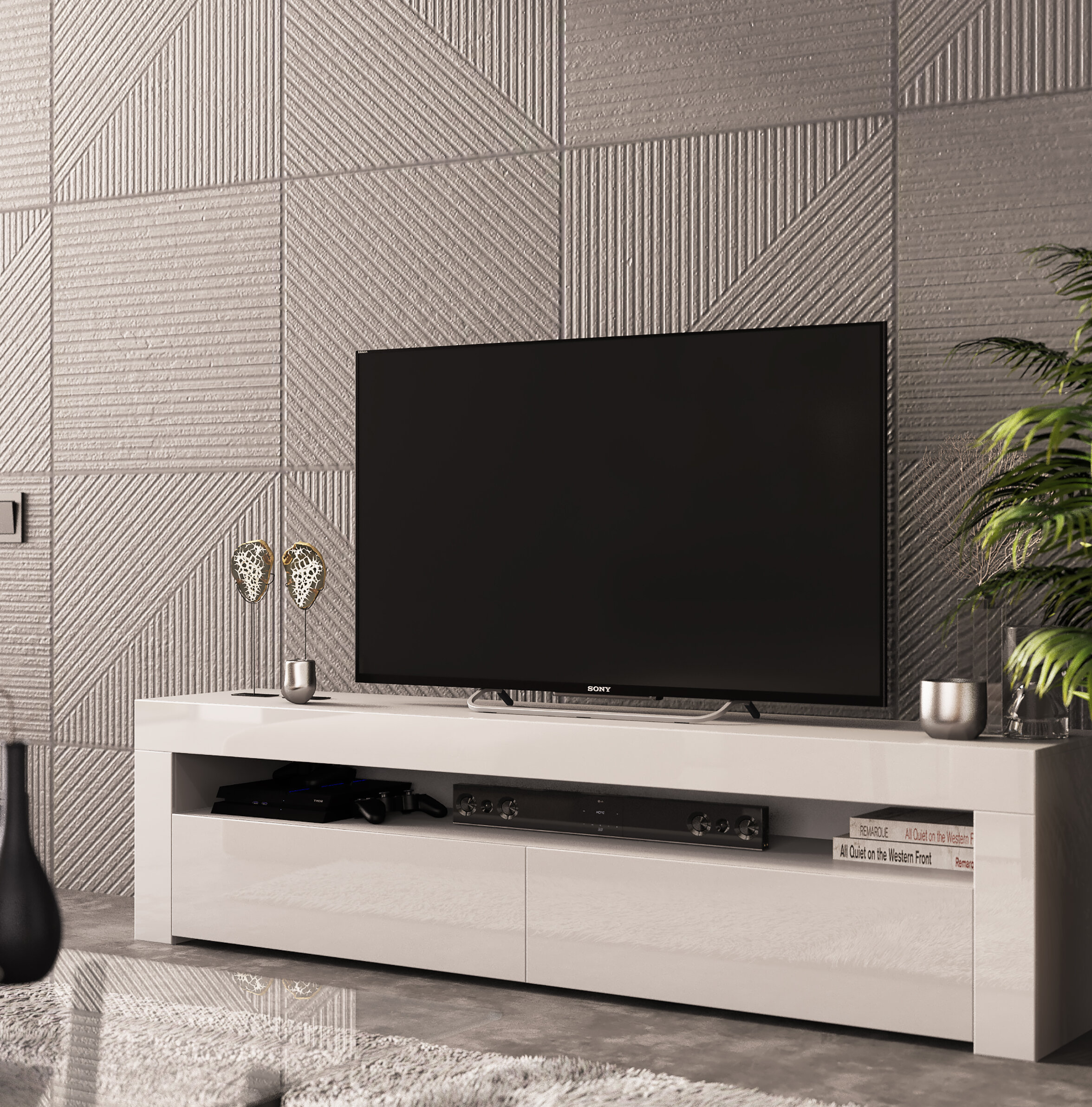 Ebern Designs Camargue Tv Stand For Tvs Up To 65 Reviews Wayfair Co Uk