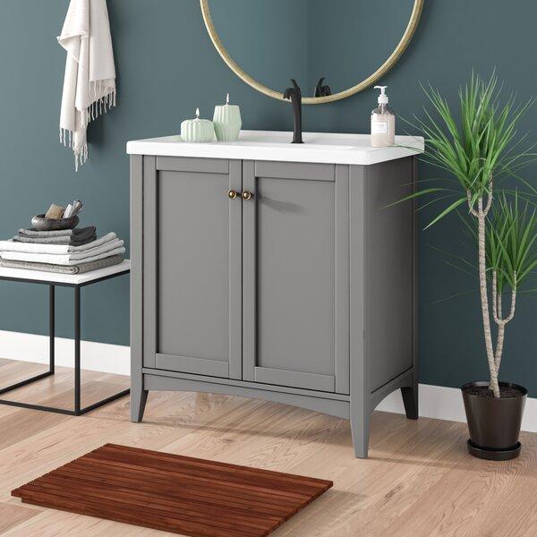 Maple Walnut Solid Wood Single Bathroom