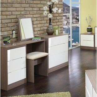 Vernon Dressing Table Set With Mirror By 17 Stories