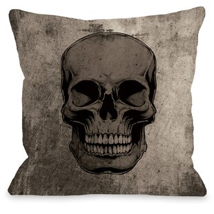 Skull Grunge Throw Pillow