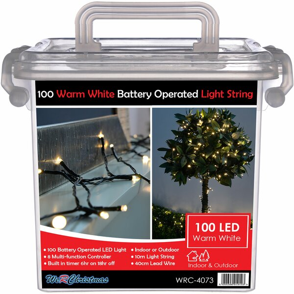 The Seasonal Aisle Outdoor Battery Operated Multi Function 100 Led String Light Wayfair Co Uk