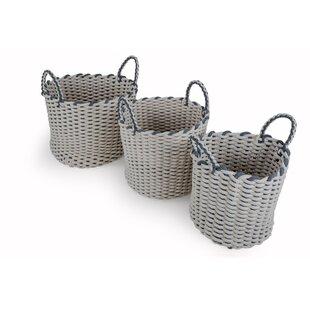 Fabric 3 Piece Basket Set By Beachcrest Home