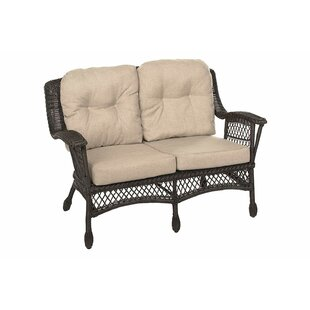 Densmore Outdoor Garden Loveseat with Cushions by Highland Dunes