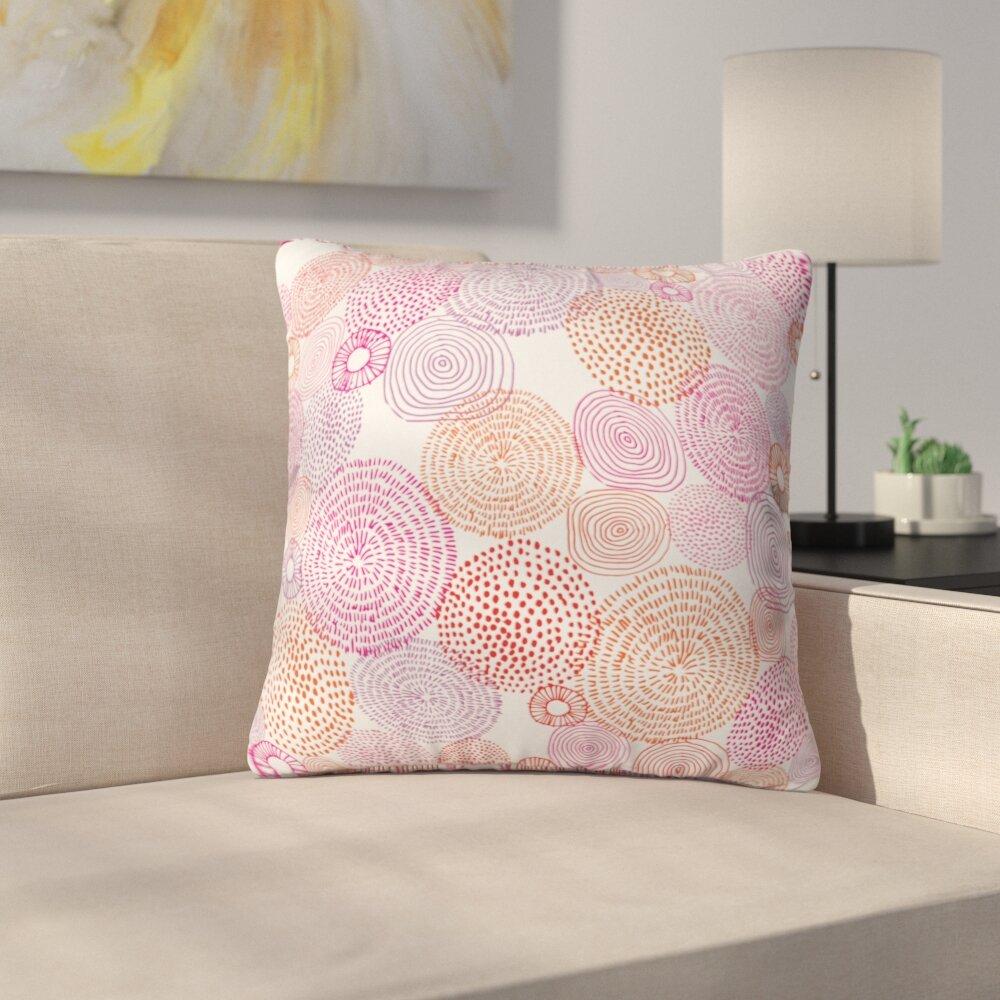 East Urban Home Circles In Colors I Throw Pillow Wayfair