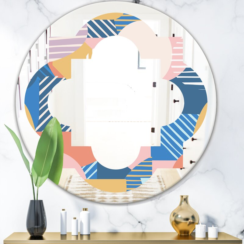 East Urban Home Quatrefoil Trendy Geometry Shapes Pattern Eclectic Frameless Wall Mirror Wayfair