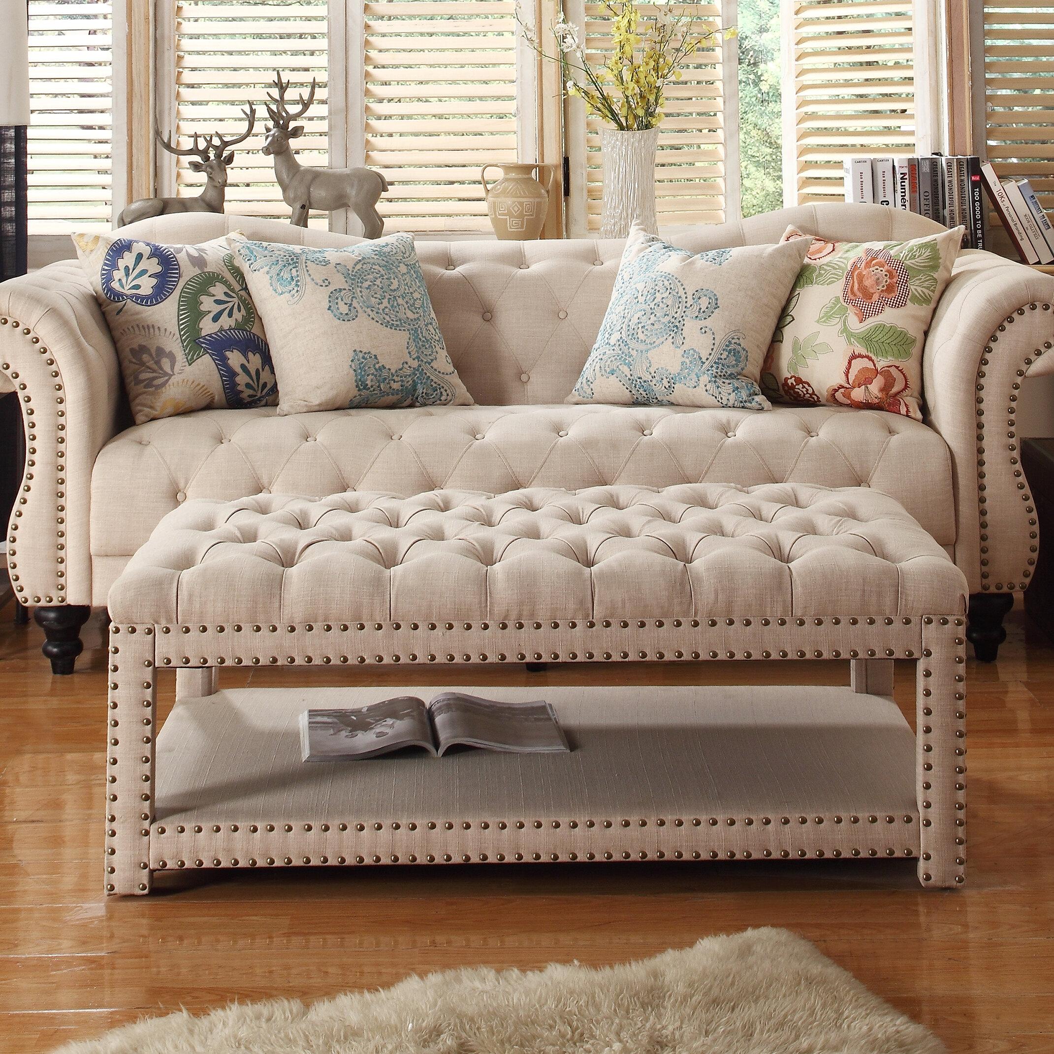 Miraculous Heidy Tufted Cocktail Storage Ottoman Short Links Chair Design For Home Short Linksinfo