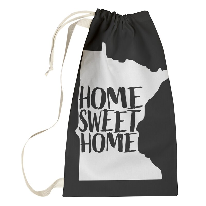 East Urban Home Home Sweet Minnesota Laundry Bag Wayfair