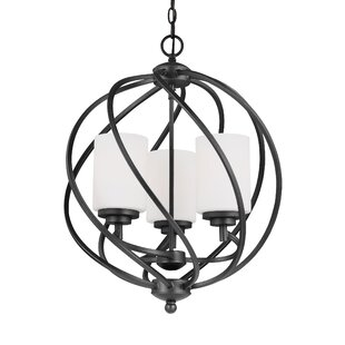 Brayden Studio Redington 3-Light Globe Chandelier
