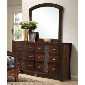 Northlake 6 Drawer Dresser with Mirror by Darby Home Co