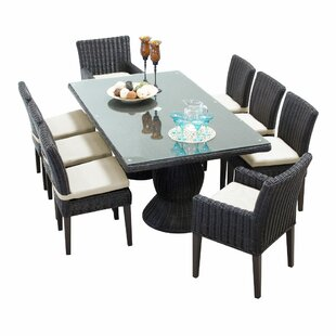 Rosecliff Heights Eldredge 9 Piece Dining Set with Cushions