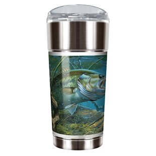 Mark Susinno's Bass and Spinner 24 oz. Stainless Steel Travel Tumbler
