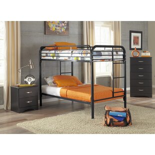 Christopher Twin over Twin Standard Bunk 3 Piece Bedroom Set by Harriet Bee