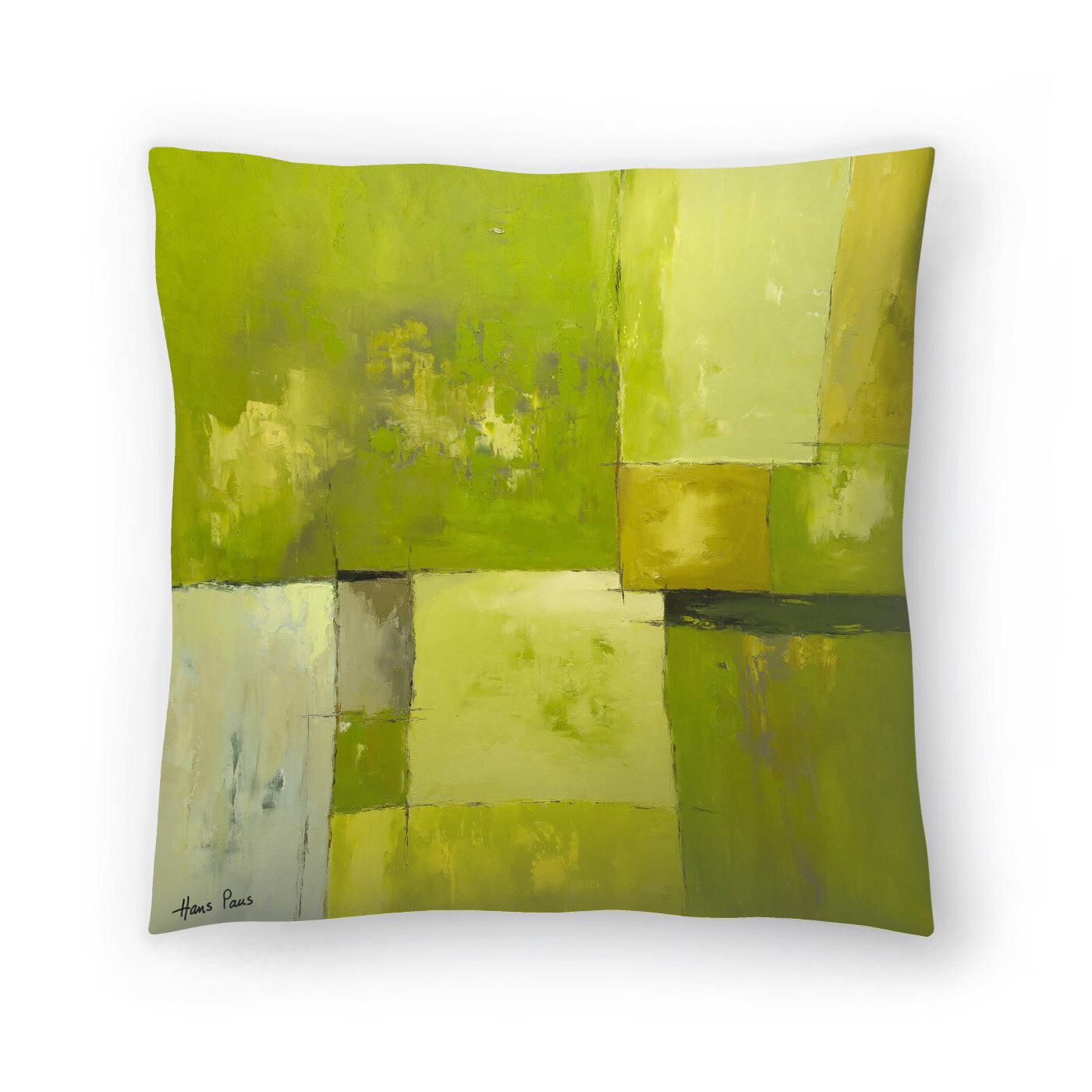 East Urban Home Hans Paus Abstract 14 Throw Pillow Wayfair