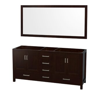 Sheffield 71 Double Bathroom Vanity Base by Wyndham Collection