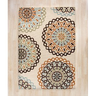 Palma Ivory/Brown Indoor/Outdoor Area Rug