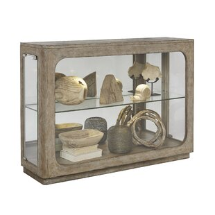 Aaru Lighted Console Curio Cabinet by Ophelia & Co.