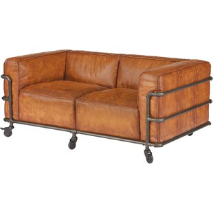 Georgette Leather Loveseat