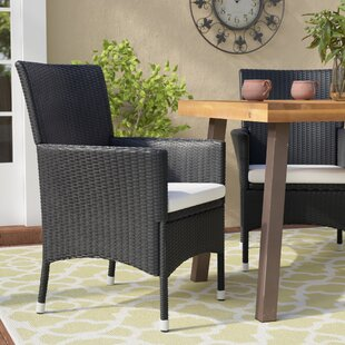 Fielding Patio Dining Chair with Cushion (Set of 2)