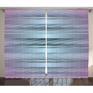 90b304e80076 Conaway Modern Gradient Toned Zig Zag Retro 80s Party Style Fragmented  Stripes Graphic Art Graphic Print & Text Semi-Sheer Rod Pocket Curtain  Panels (Set of ...