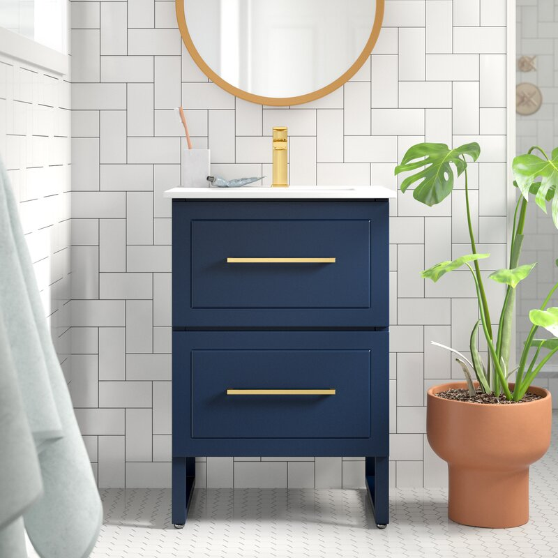 Foundstone 24 Single Bathroom Vanity Set Reviews Wayfair