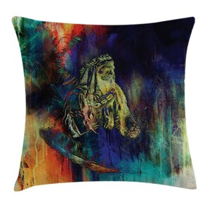 Native American Case Grunge Indian Square Pillow Cover