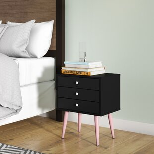 Read Reviews Dimartino Mid Century 3 Drawer Nightstand By George Oliver