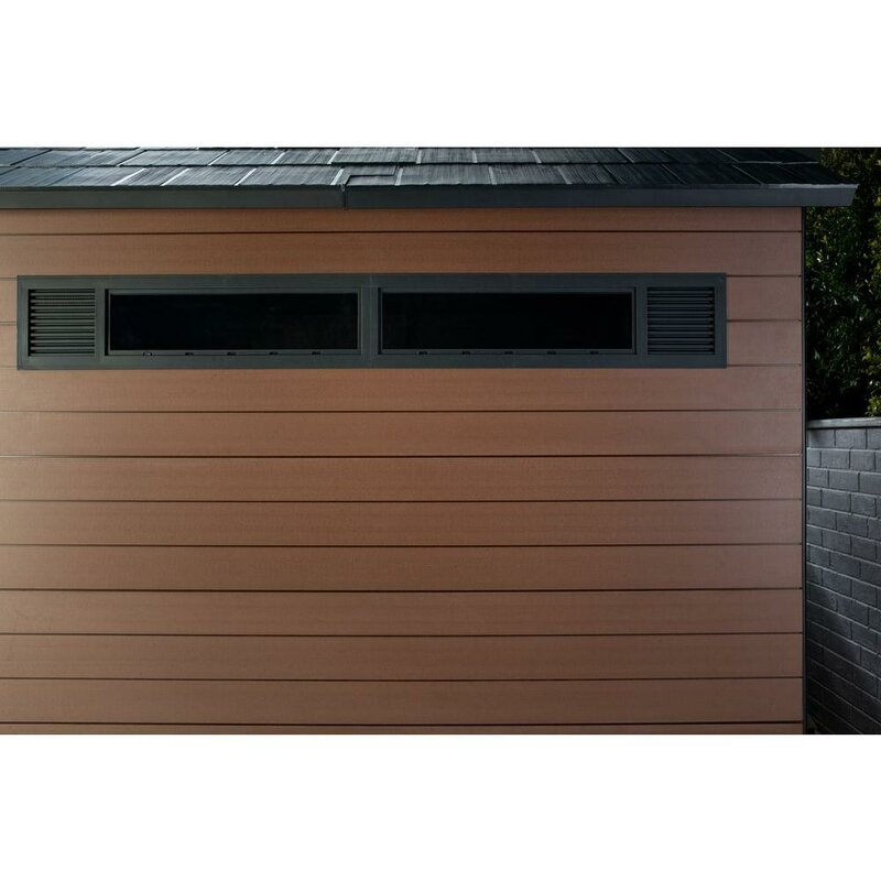 Fusion 7 5 ft  W x 9 5 ft  D Composite Storage Shed