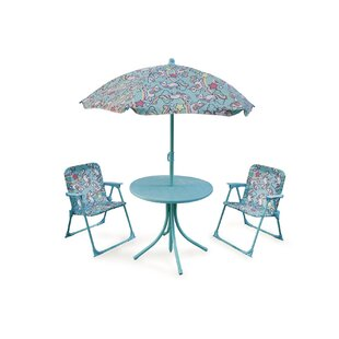 Dicle New Unicorn Polyester Children's 4 Piece Table And Chair Set By Zoomie Kids