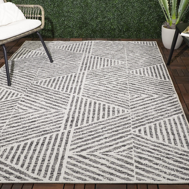 Brylee Geometric Gray Indoor Outdoor Area Rug Allmodern