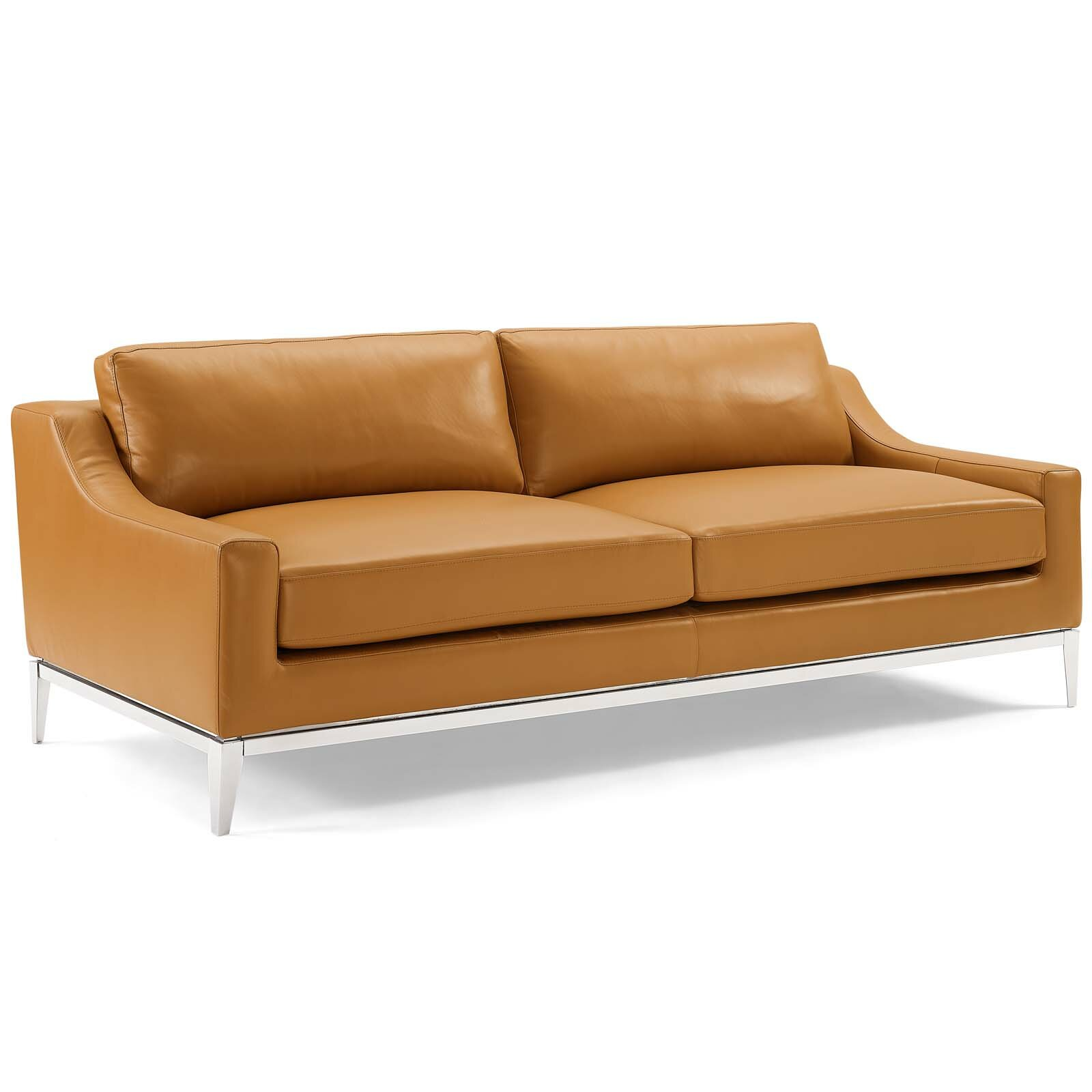 Stupendous Idell Leather Sofa Squirreltailoven Fun Painted Chair Ideas Images Squirreltailovenorg