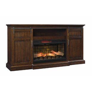 Carnation Sliding Barn Door TV Stand for TVs up to 78 with Fireplace