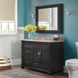 Carrasquillo 48 Single Bathroom Vanity Set with Mirror by Winston Porter