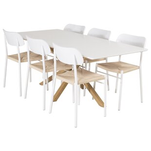 Briallen Dining Set With 6 Chairs By Ebern Designs